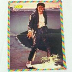 Coleccionismo de Revistas y Periódicos: POSTER SUPER POP ORIGINAL, AÑOS 80. MICHAEL JACKSON Y AL REVERSO MARK HARMON. Lote 213770315