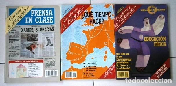 Coleccionismo de Revistas y Periódicos: Lote de 15 revistas Cuadernos de Pedagogía de los años 1983-1991 - Foto 2 - 212492681