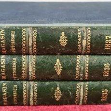 Coleccionismo de Revistas y Periódicos: LE MAGASIN PITTORESQUE. VVAA. IMP BOURGOGNE. 3 VOL. 1835-1837.. Lote 213868280