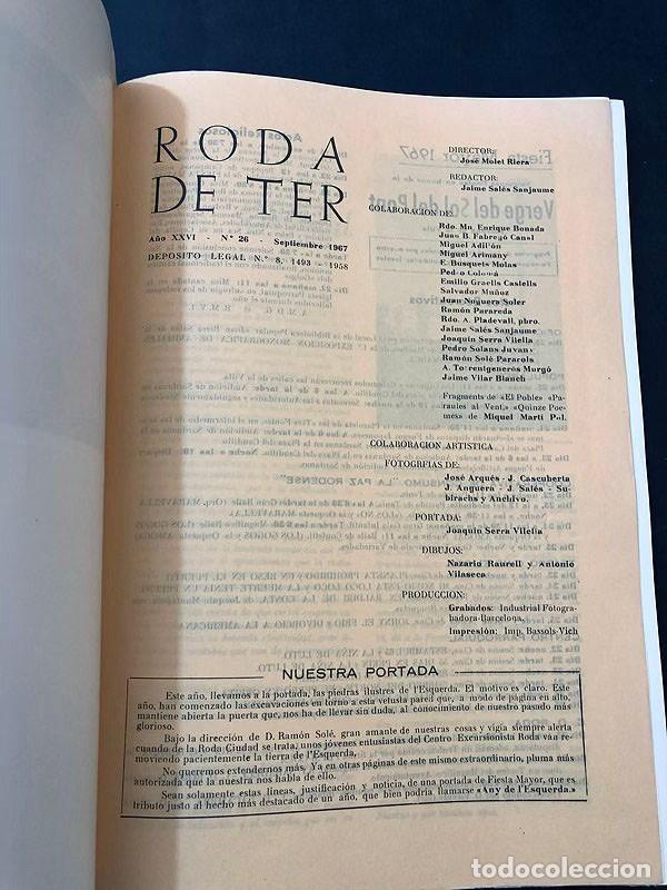 Coleccionismo de Revistas y Periódicos: REVISTA - RODA DE TER / ESPECIAL FIESTA MAYOR 1967 / VERGE DEL SOL DEL PONT / BARCELONA - Foto 2 - 213896795