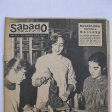 Coleccionismo de Revistas y Periódicos: SÁBADO GRÁFICO - AÑO III - Nº 115 - BARCELONA ESCUELA MASSANA - DICIEMBRE DE 1958.. Lote 213970390