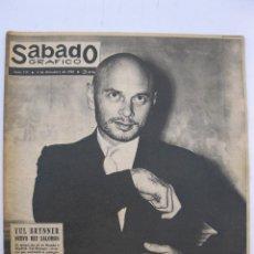 Coleccionismo de Revistas y Periódicos: SÁBADO GRÁFICO - AÑO III - Nº 114 - YUL BRYNNER NUEVO REY SALOMÓN - DICIEMBRE DE 1958.. Lote 213971832