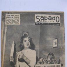Coleccionismo de Revistas y Periódicos: SÁBADO GRÁFICO - AÑO III - Nº 113 - DANIELLE RICARD-CESAR GIRON - NOVIEMBRE DE 1958.. Lote 214006390