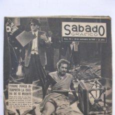 Coleccionismo de Revistas y Periódicos: SÁBADO GRÁFICO - AÑO III - Nº 112 - TYRONE POWER INTERPRETÓ SU MUERTE - NOVIEMBRE DE 1958.. Lote 214008547