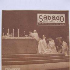 Coleccionismo de Revistas y Periódicos: SÁBADO GRÁFICO - AÑO III - Nº 109 - EXTRAORDINARIO DEL NUEVO PAPA - NOVIEMBRE DE 1958.. Lote 214012455