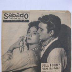 Coleccionismo de Revistas y Periódicos: SÁBADO GRÁFICO - AÑO III - Nº 108 - LOLA FLORES VUELVE A LAS TABLAS - OCTUBRE DE 1958.. Lote 214012723