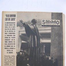 Coleccionismo de Revistas y Periódicos: SÁBADO GRÁFICO - AÑO III - Nº 107 - YO HE CONVIVIDO CON UN SANTO - OCTUBRE DE 1958.. Lote 214012998