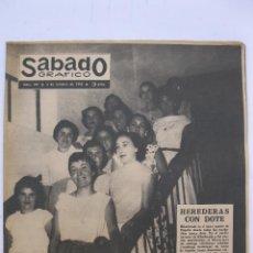 Coleccionismo de Revistas y Periódicos: SÁBADO GRÁFICO - AÑO III - Nº 105 - HEREDERAS CON DOTE - OCTUBRE DE 1958.. Lote 214015196