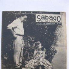 Coleccionismo de Revistas y Periódicos: SÁBADO GRÁFICO - AÑO III - Nº 103 - PAULETTE GODDARD Y ERICH MARIA REMARQUE - SEPTIEMBRE DE 1958.. Lote 214015765