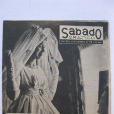 Coleccionismo de Revistas y Periódicos: SÁBADO GRÁFICO - AÑO III - Nº 102 - SE CASA JEAN SEBERG - SEPTIEMBRE DE 1958.. Lote 214015935