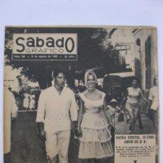 Coleccionismo de Revistas y Periódicos: SÁBADO GRÁFICO - AÑO III - Nº 100 - SACHA DIESTEL, ÚLTIMO AMOR DE B.B. - AGOSTO DE 1958.. Lote 214018028