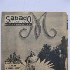 Coleccionismo de Revistas y Periódicos: SÁBADO GRÁFICO - AÑO III - Nº 98 - MARGARITA Y TOWNSEND YA NO SON AMIGOS - AGOSTO DE 1958.. Lote 214018555