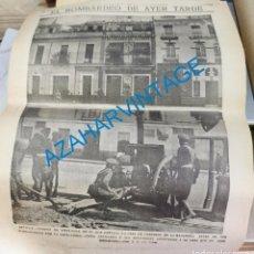 Coleccionismo de Revistas y Periódicos: SEVILLA, JULIO 1931, BOMBARDEO CASA CORNELIO, LA MACARENA, HOJA DE PUBLICACION. Lote 214090630