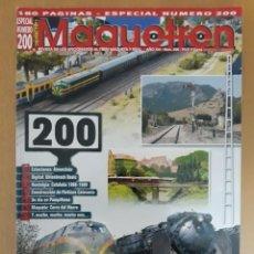 Coleccionismo de Revistas y Periódicos: REVISTA MAQUETREN ESPECIAL NÚMERO 200. Lote 214208553