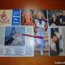 Coleccionismo de Revistas y Periódicos: CLIPPING 1995: MIRIAM DÍAZ AROCA, MARIBEL VERDÚ, JORGE SANZ,. Lote 214231173