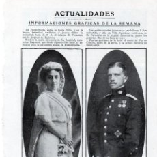 Coleccionismo de Revistas y Periódicos: FUENTERRABIA 1914 BODA DOÑA MARIA LUISA DE SILVA Y EL INFANTE FERNANDO HOJA REVISTA. Lote 214361006