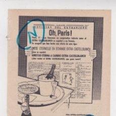 Coleccionismo de Revistas y Periódicos: PUBLICIDAD T 1958. ANUNCIO EXTRA CASTELLBLANCH. Lote 214438615
