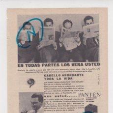 Coleccionismo de Revistas y Periódicos: PUBLICIDAD T 1958. ANUNCIO PANTEN. LOCION CAPILAR VITAMINADA CON PANTENOL. LABORATORIOS A.P. Y C.. Lote 214439171