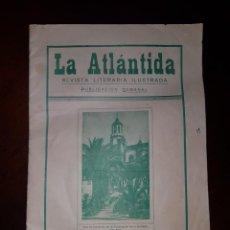 Coleccionismo de Revistas y Periódicos: REVISTA LA ATLÁNTIDA, Nº 1 - MAYO 1928 - LA OROTAVA (CANARIAS). Lote 214571155