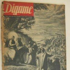 Coleccionismo de Revistas y Periódicos: REVISTA DIGAME - AÑO XXV Nº 1253, 7 ENERO 1964 - EL PAPA PEREGRINO. MARISOL. NATI MISTRAL. Lote 214757398