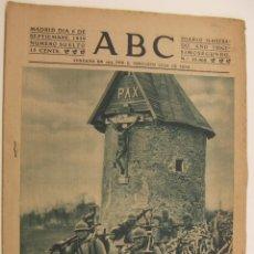 Coleccionismo de Revistas y Periódicos: DIARIO ABC 6 SEPTIEMBRE 1939. Lote 214884791
