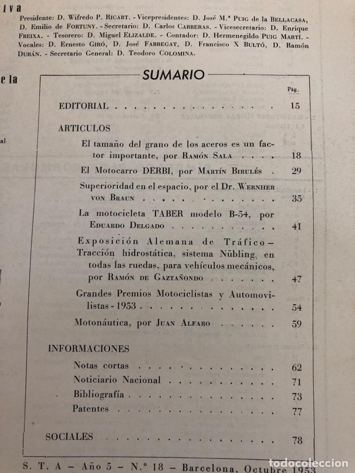 Coleccionismo de Revistas y Periódicos: Revista STA Año 5 Num 18, Octubre de 1953 Articulo Pegasao - Foto 3 - 215016175