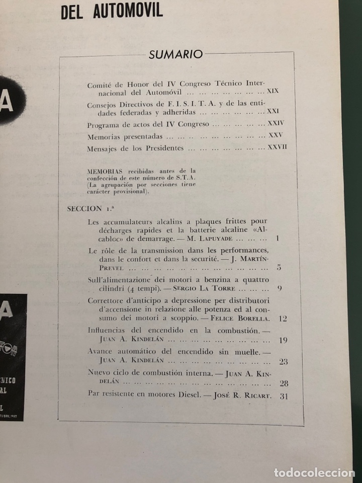 Coleccionismo de Revistas y Periódicos: Revista STA Año 4 Num 14, Octubre de 1952 Publicidad Pegaso - Foto 5 - 215016523