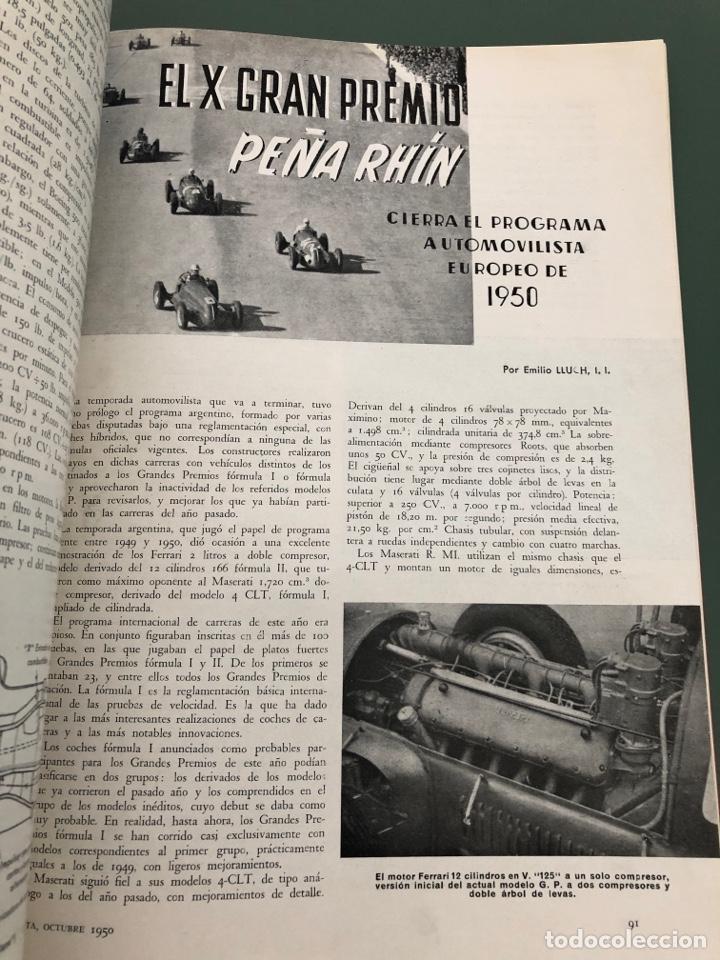 Coleccionismo de Revistas y Periódicos: Revista STA Año 2 Num 6 Octubre 1950 Reportaje Motor Pegaso Diesel Marino - Foto 2 - 215016831
