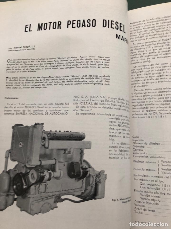Coleccionismo de Revistas y Periódicos: Revista STA Año 2 Num 6 Octubre 1950 Reportaje Motor Pegaso Diesel Marino - Foto 3 - 215016831