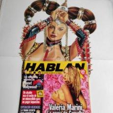 Coleccionismo de Revistas y Periódicos: HABLAN Nº 35 VALERIA MARINI, SALMA HAYEK RACHEL WEISZ + POSTER PINUP NATALIE PORTMAN. Lote 215028163