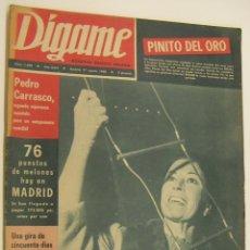 Coleccionismo de Revistas y Periódicos: REVISTA DÍGAME Nº 1495 27 AGOSTO 1968 - PINITO DEL ORO, PEDRO CARRASCO, DALI, MANOLETE, MASSIEL. Lote 215281572