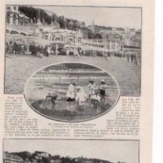 Coleccionismo de Revistas y Periódicos: SANTANDER 1914 EL VERANEO EN LA PLAYA HOJA REVISTA. Lote 215358156