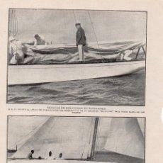 Coleccionismo de Revistas y Periódicos: SANTANDER 1914 REGATAS DE BALANDROS CON EL REY HOJA REVISTA. Lote 215358288
