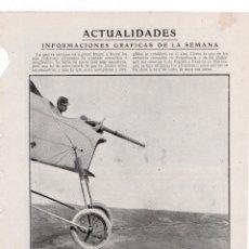 Coleccionismo de Revistas y Periódicos: LA GUERRA EN EL AIRE 1914 AVIADOR FRANCES HOJA REVISTA. Lote 215358420