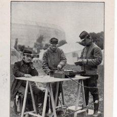 Coleccionismo de Revistas y Periódicos: LA RADIOTELEGRAFIA EN LA GUERRA 1914 OFICIAL FRANCES HOJA REVISTA. Lote 215358793