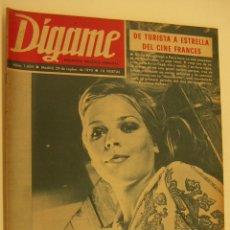 Coleccionismo de Revistas y Periódicos: REVISTA DÍGAME Nº 1604, 29 SEPT 1970. KARIN MEYER, FRANCO, MANOLO SANTANA, LUIS SALA, ANTHONY QUINN. Lote 215429513