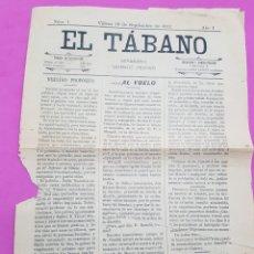 Collezionismo di Riviste e Giornali: EL TABANO , SEMANARIO SATÍRICO FESTIVO , VILLENA 1912. Lote 215460831