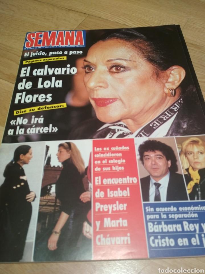 REVISTA SEMANA 1989 LOLA FLORES RAFFAELA CARRA ROCÍO DÚRCAL PEDRO ALMODÓVAR (Coleccionismo - Revistas y Periódicos Modernos (a partir de 1.940) - Otros)