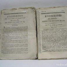 Coleccionismo de Revistas y Periódicos: REVISTA EFEMÉRIDES DE ESPAÑA 1804. (296 NÚMEROS) MUY RARA. Lote 215810327