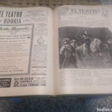 Coleccionismo de Revistas y Periódicos: EL TEATRO . REVISTA DE ESPECTACULOS 1909, NUMERO 1 AL 24, 1909 Y 1910. ENCUADERNADO. Lote 215810865