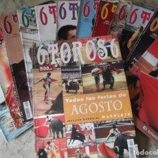 """Coleccionismo de Revistas y Periódicos: LOTE 13 REVISTAS """"6 TOROS 6"""". Lote 216490616"""