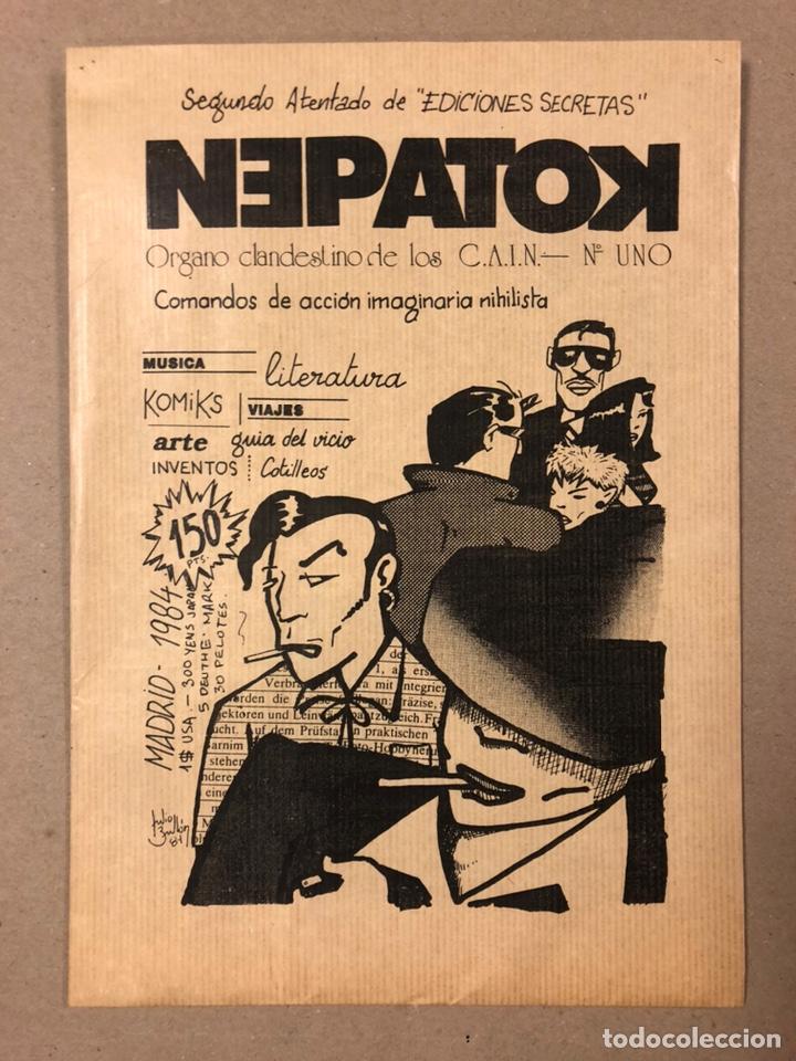 NEPATOK N° (MADRID 1984). HISTÓRICO FANZINE ORIGINAL MOVIDA MADRILEÑA; ÓRGANO CLANDESTINO C.A.I.N. (Coleccionismo - Revistas y Periódicos Modernos (a partir de 1.940) - Otros)