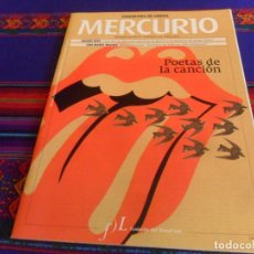 Collectionnisme de Revues et Journaux: PANORAMA DE LIBROS MERCURIO Nº 130. 2011. ROLLING STONES POETAS DE LA CANCIÓN MIGUEL RÍOS. MBE RARA.. Lote 216780320