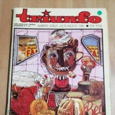 Coleccionismo de Revistas y Periódicos: REVISTA TRIUNFO AÑO XXXV - 6ª ÉPOCA - NÚMEROS 9 Y 10 (NÚMERO DOBLE JULIO - AGOSTO 1981). Lote 217289200