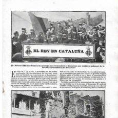 Coleccionismo de Revistas y Periódicos: 1904 REY ALFONSO XIII VISITA TARRAGONA XIQUETS VALLS CASTELLERS REUS MANRESA MONTSERRAT PUERTO BCNA. Lote 217470835