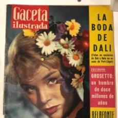 Coleccionismo de Revistas y Periódicos: GACETA ILUSTARDA 23 AGOSTO 1958 BODA DE DALI. Lote 217475746