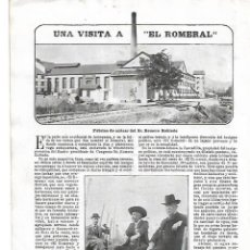 Coleccionismo de Revistas y Periódicos: AÑO 1904 EL ROMERAL FABRICA AZUCAR ROMERO ROBLEDO ANTEQUERA BAZAR QUIRURGICO TORCIDA GOMEZ MADRID. Lote 217482587