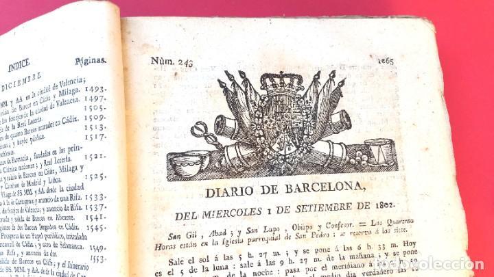 DIARIO DE BARCELONA - 1802 - DEL Nº 243 AL 364 - 121 NÚMEROS (Coleccionismo - Revistas y Periódicos Antiguos (hasta 1.939))
