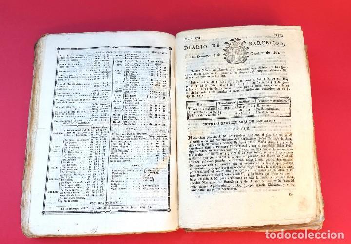 Coleccionismo de Revistas y Periódicos: DIARIO DE BARCELONA - 1802 - DEL Nº 243 AL 364 - 121 números - Foto 5 - 217550892