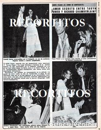 SCANS RICHARD CHAMBERLAIN TARYN POWER (Coleccionismo - Revistas y Periódicos Modernos (a partir de 1.940) - Otros)